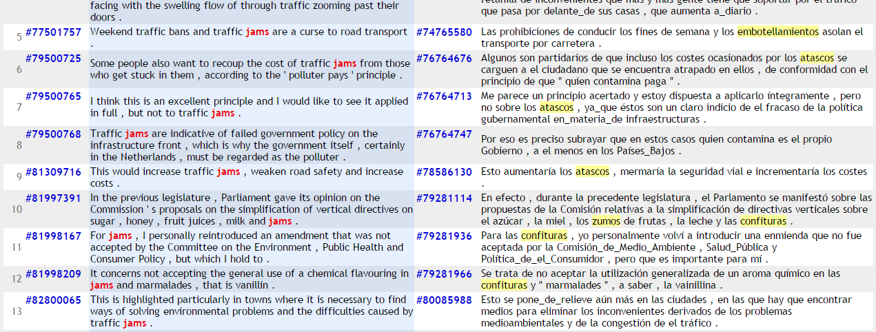 parallel concordance result