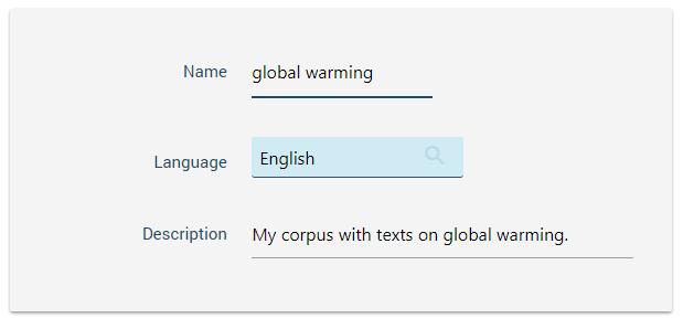 build a corpus - name and language