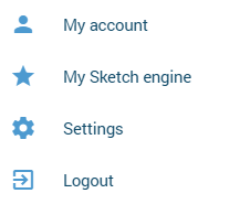 My account menu