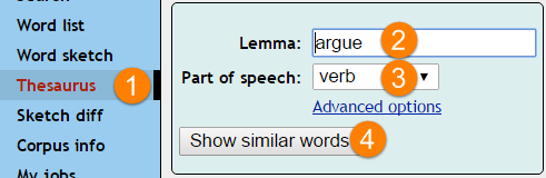 Automatically generated thesaurus