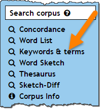 Extract one-word and multi-word terms from a corpus