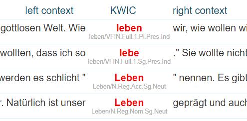 Concordance from deTenTen German corpus