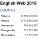 English Web 2015 - text statistics