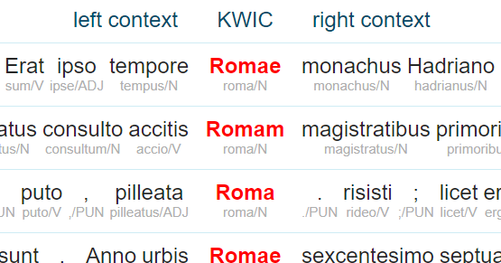 LatinISE corpus - concordance