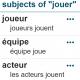Screenshot of word sketch from frTenTen French corpus